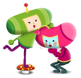 Namco high/Katamari cousin and prince by MisterDerpy