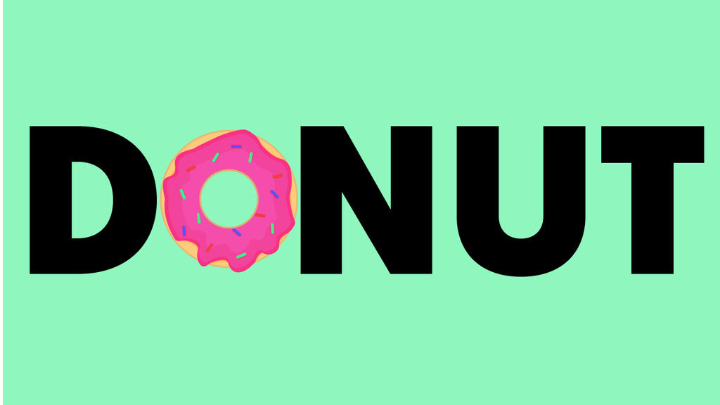 Delicious Donut- Typography by GrubyKisiel