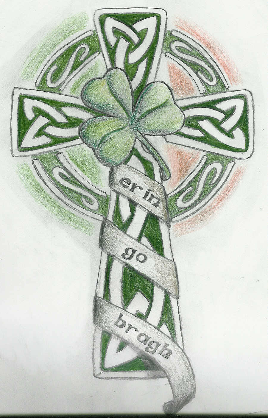 Celtic Cross With Shamrock Tats on pinterest