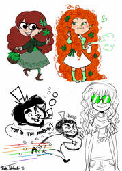 st. patty's day doodles