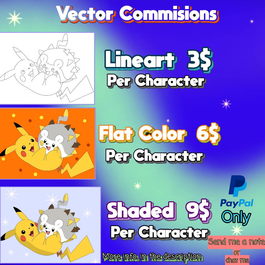 Vector Commisions
