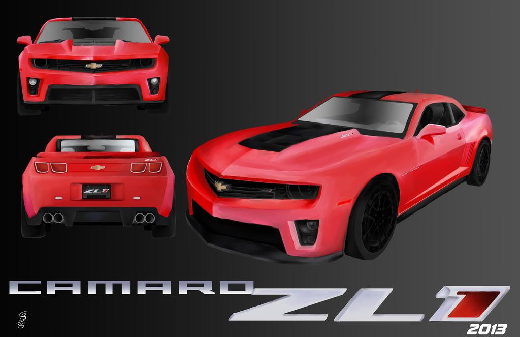 Camaro ZL1 2013 red by JediKnight97