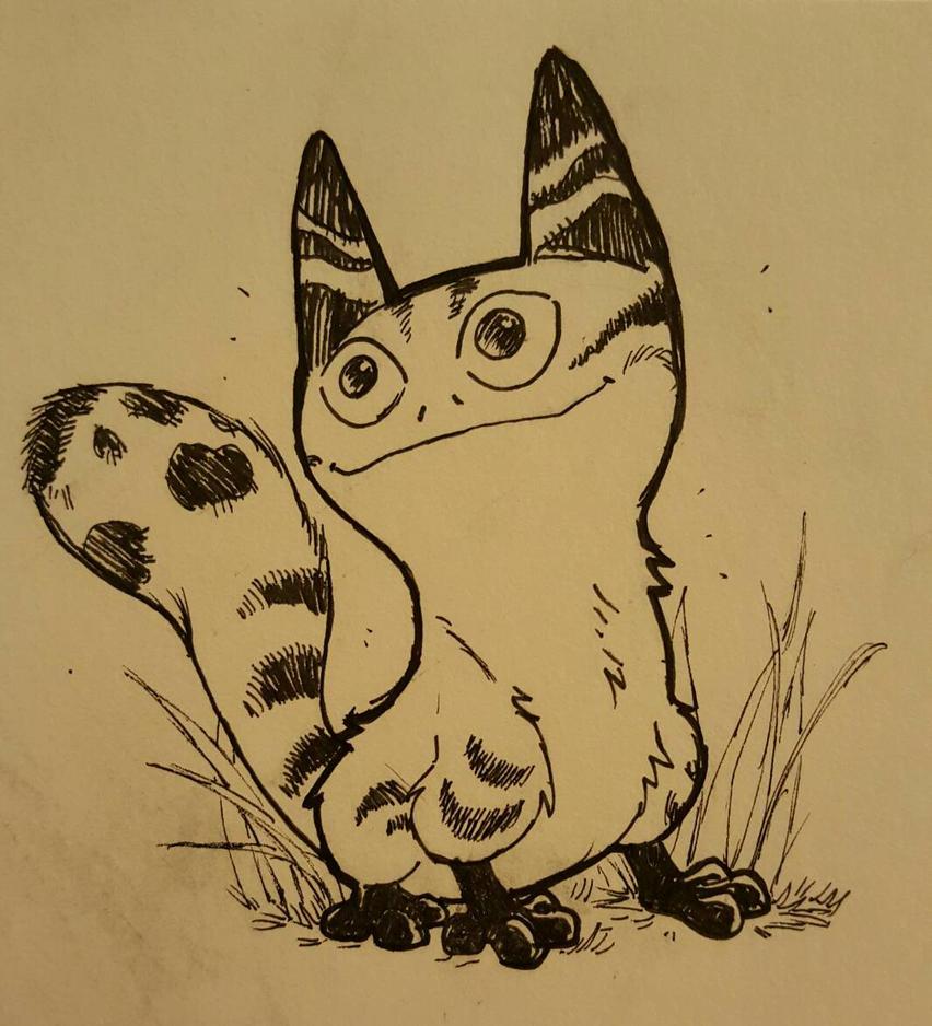 Inktober Day 1  Loth Cat by JediKnight97