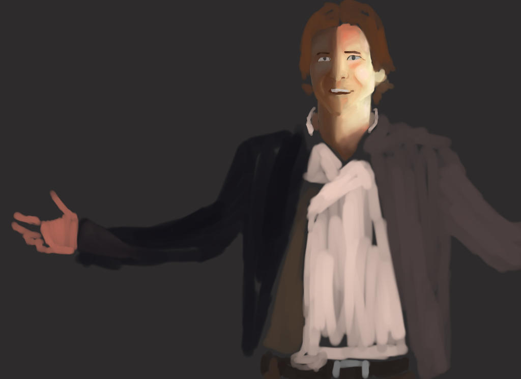 30 Min Speedpaint Han Solo ESB by JediKnight97