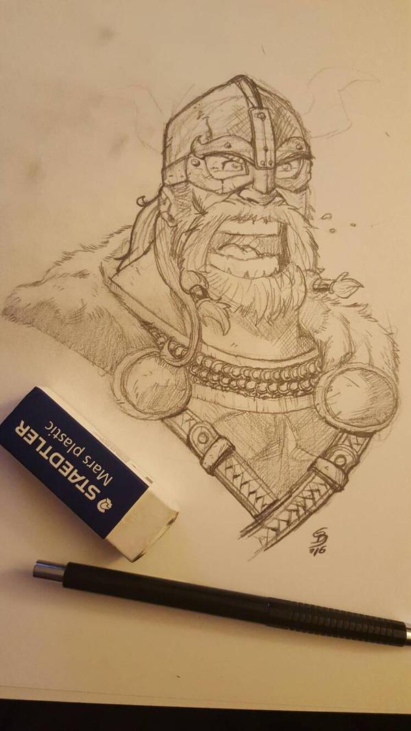 Viking sketch  by JediKnight97