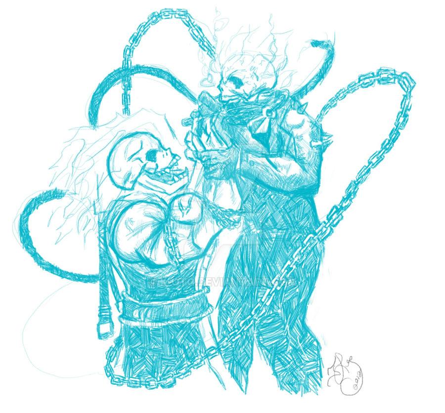 Scorpion MK VS Ghost Rider by K-otq on DeviantArt