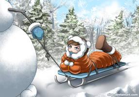 Snowman - Sleigh