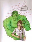 Betty and Hulk by KellyStarSpangled