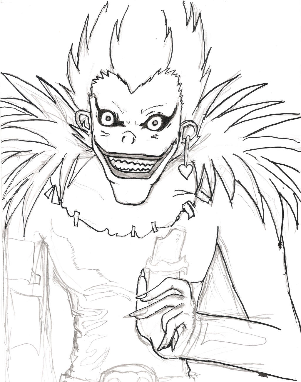 Death note ryuk coloring pages