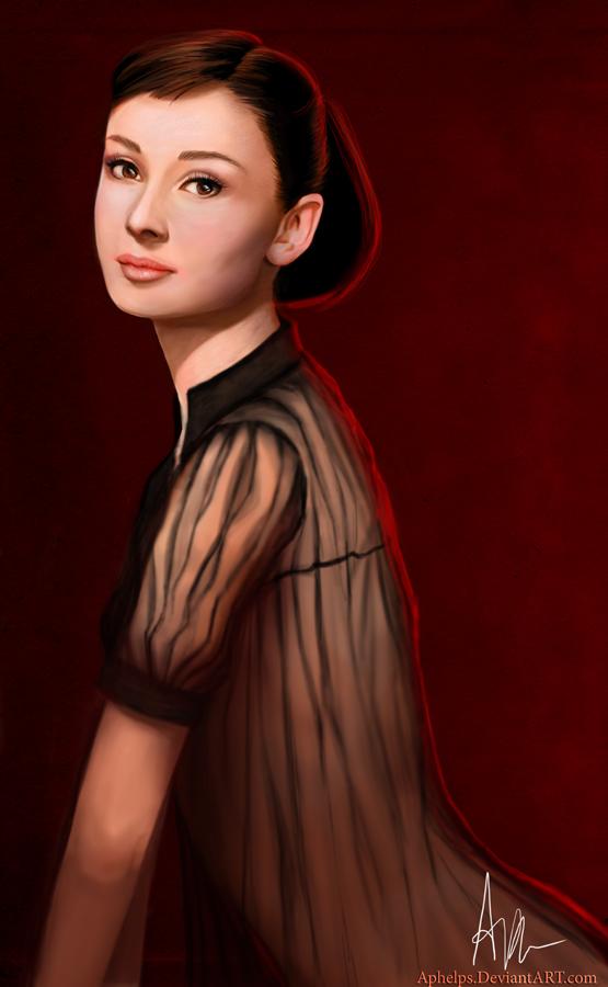 Audrey Hepburn by Aphelps