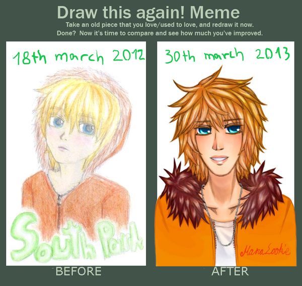 Draw this again: Kenny 2012-2013 by ManaLookie