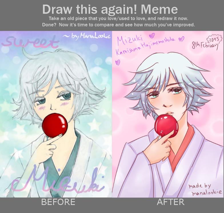 [Draw this again! Meme] Mizuki - Candy Apple by ManaLookie