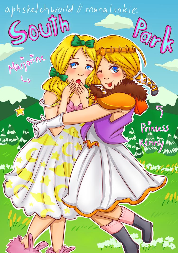 Marjorine and Princess Kenny by ManaLookie