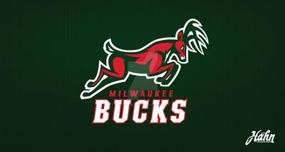 milwaukee bucks logo. milwaukee bucks logo concept by designsbyhahn