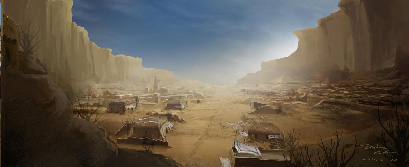 ♕ SPIRIT BRINGERS: EMPYREAN REALM. (SAGA DE AMAGI) - Página 7 Desert_village_by_leviathanart-d4db3q1