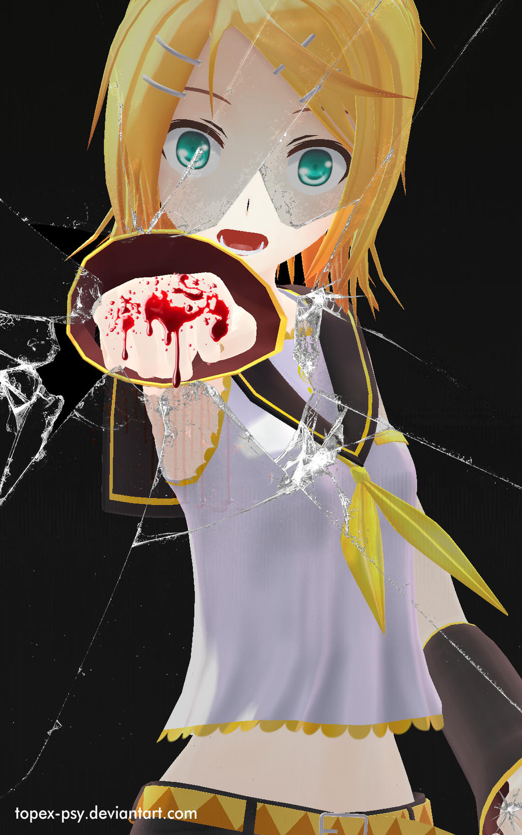 3d mmd rin kagamine the pole dancer