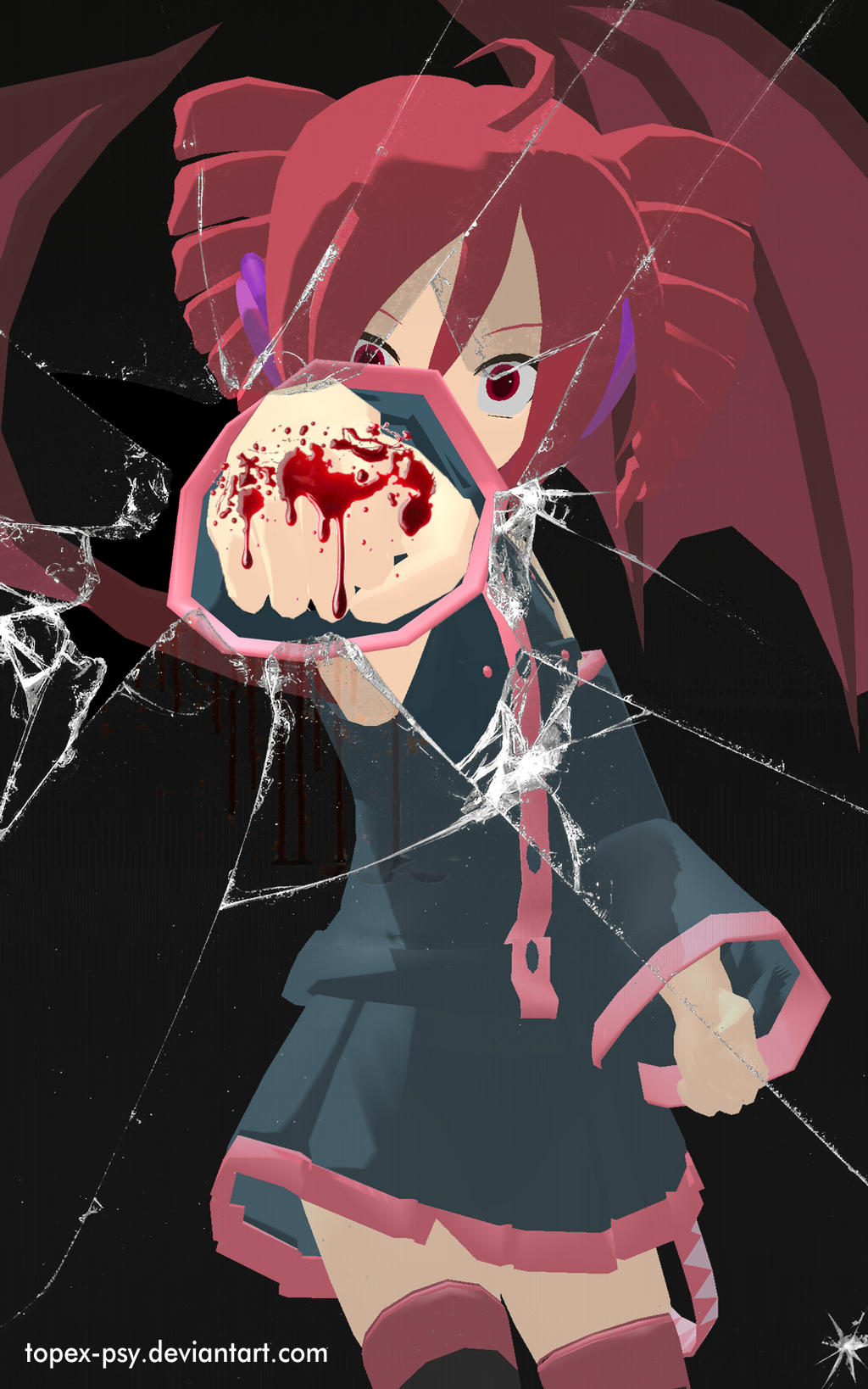 MMD Teto Kasane Glass Punch Android Wallpaper By Topex Psy