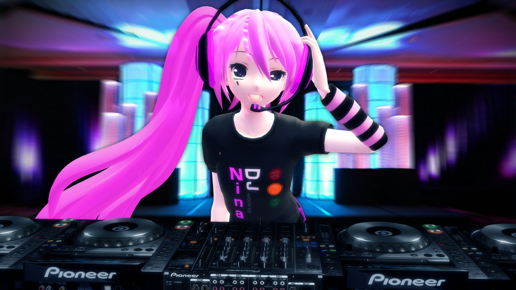 MMD 3D Wallpaper DJ Nina Solmia On The Stage By Topex Psy