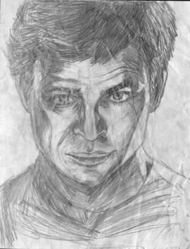 Captain Kirk Merge Portrait