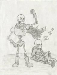 Undertale Skelebros Fan Art by Taqresu650