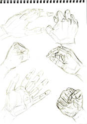 Hand Study Sketches by Taqresu650
