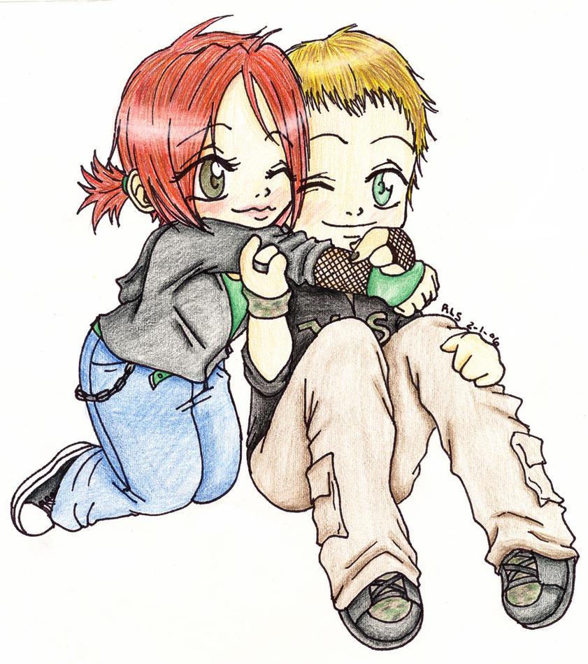 Anime Couple Cuddling Chibi | Volvoab
