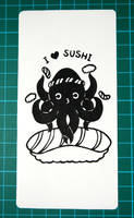 'I love sushi' bookmark by honeymil