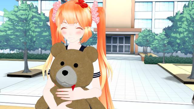 Yandere Simulator (Osana Najimi) Teddy Hug by NinjagoUndertale