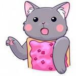 Nyan cat surprised Pikachu face
