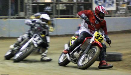 Flat track racing by Likwidflux