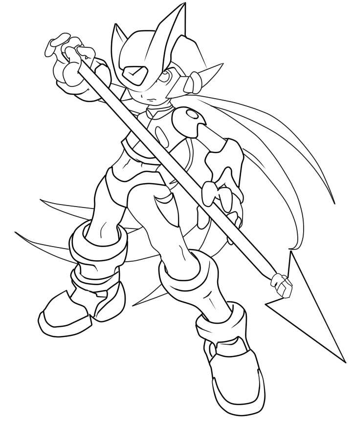 Line Art Zero : Megaman zero lineart by razz lucharsiempre on deviantart