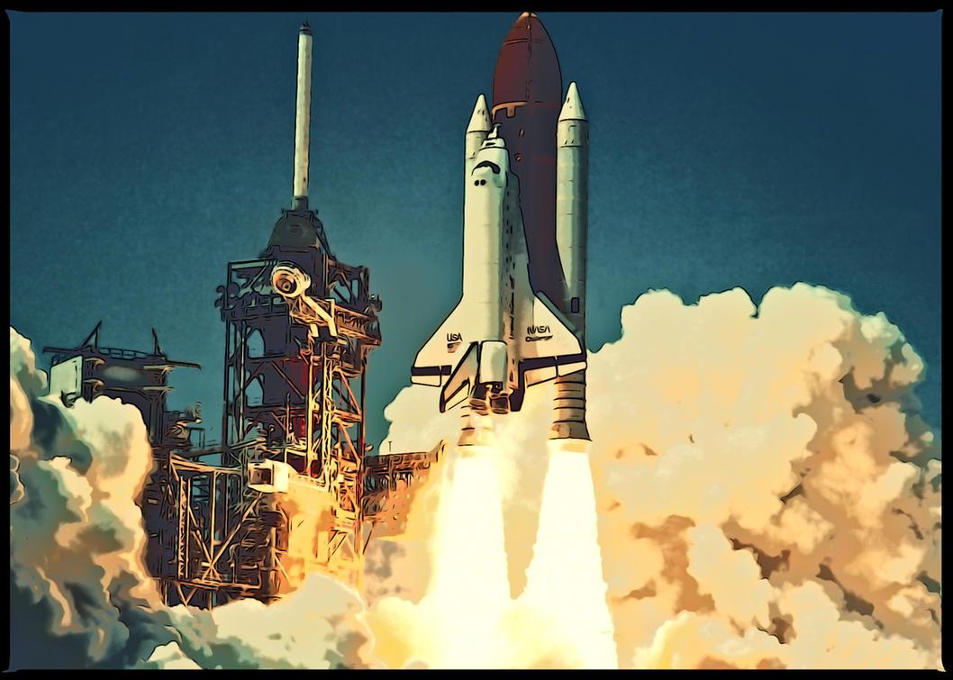 Space Shuttle Launch by xgi93 on deviantART