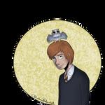 Ron and Pigwidgeon