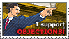 I Support Objections Stamp
