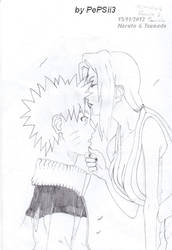 Naruto and Tsunade - Forhead kiss by PePSii-3