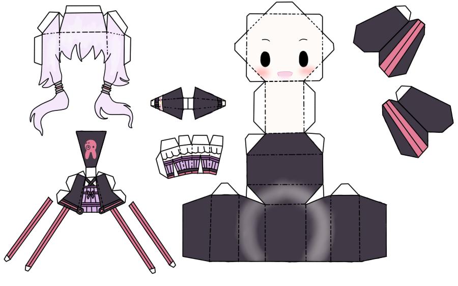 Yukari Papercraft by FluffyandPuff