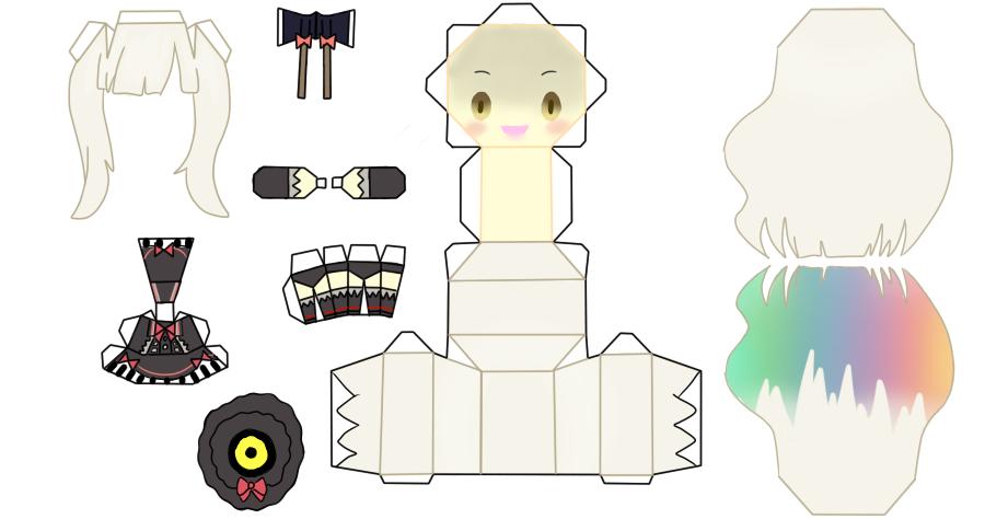 Mayu papercraft Yandere by FluffyandPuff