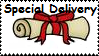 Special Delivery stamp by Cute-Stamps