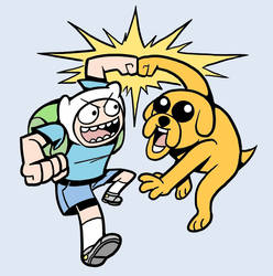 Finn and Jake by formadmenonly