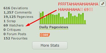 69 Watchers?! LOLOLOLOL!! by CepProductions
