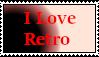 I Love Retro Stamp