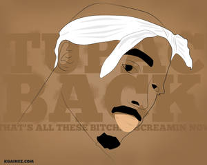 Tupac Back Vector