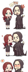 Chibi: Severus x Emily by yuniha