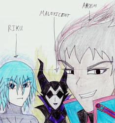 Kingdom Hearts: Trio of Darkness by TheTrueDarkness