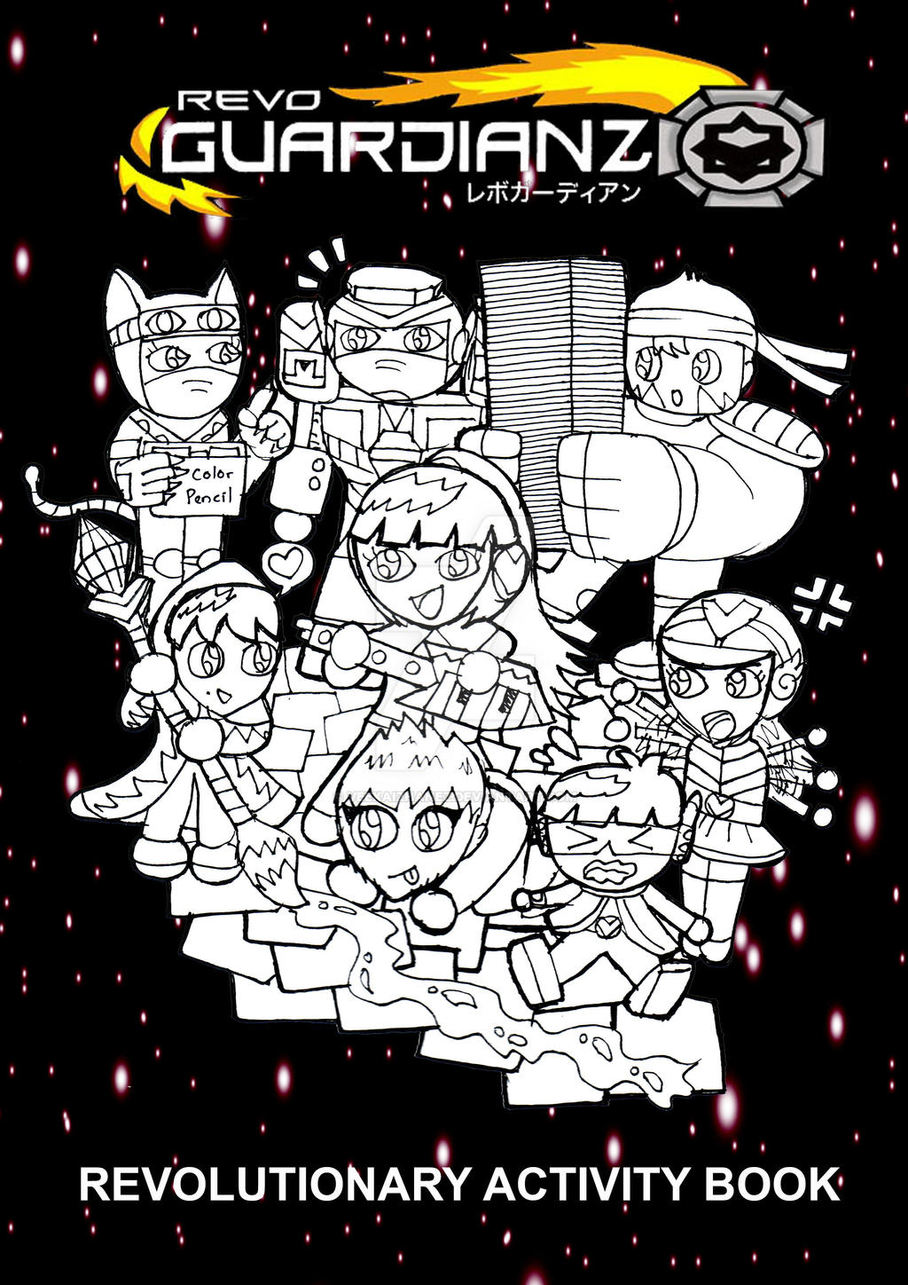 Book Cover Art Activity ~ Revo guardianz activity book cover by veekaizhanez on