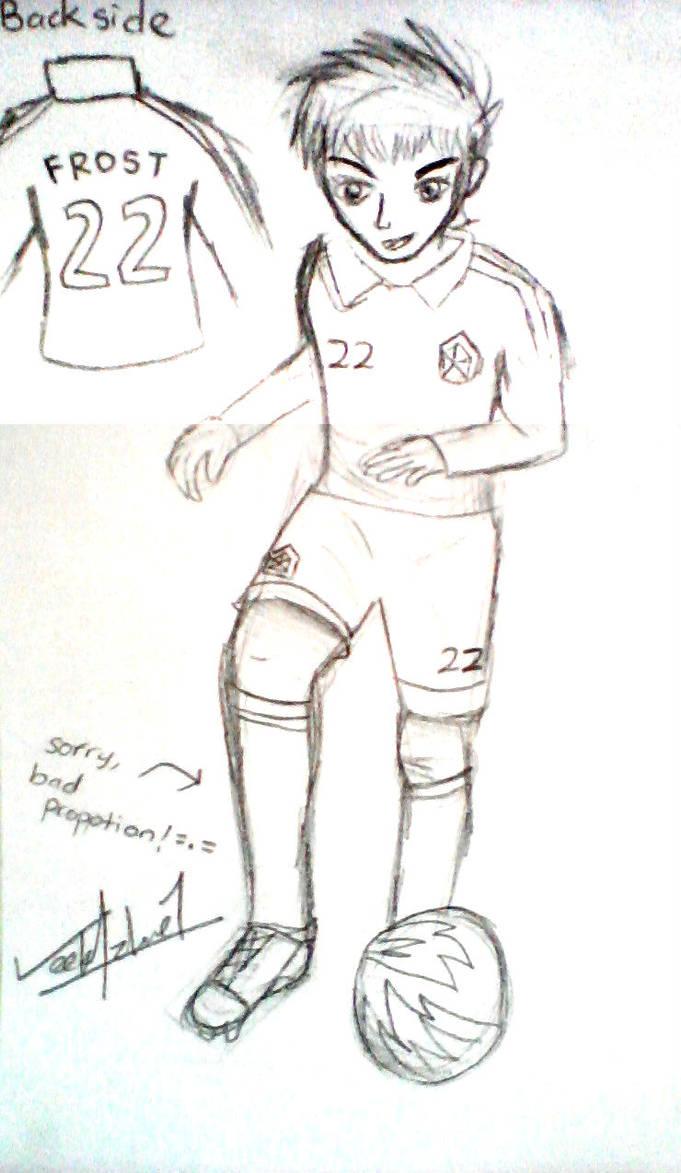 Pencil drawing practise pt10 footballer jack by veekaizhanez