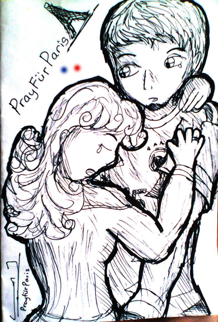 DEZTINY: Pray For Paris by veekaizhanez