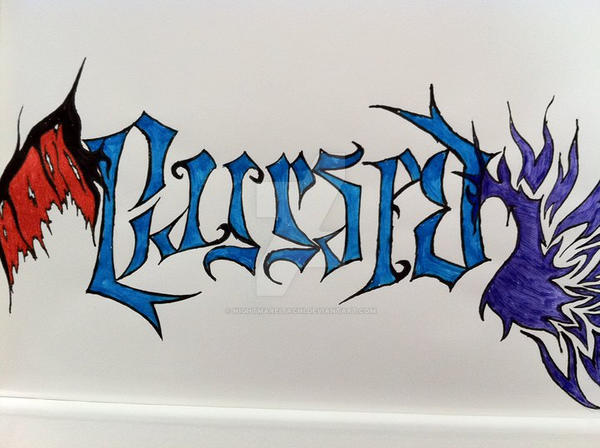 Cursedblessed Ambigram By Nightmareitachi On Deviantart