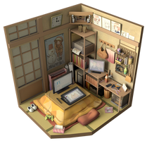 Anime room Render
