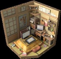 Anime room Render